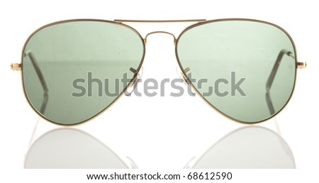 sunglasses isolated on a white background - stock photo