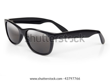 Sunglasses isolated on a white background with subtel reflection and shadow - stock photo