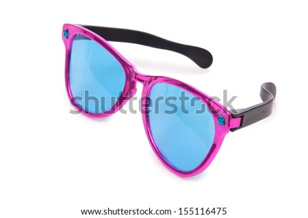 Sunglasses isolated on the white - stock photo