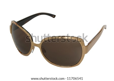 sunglasses isolated on white - stock photo