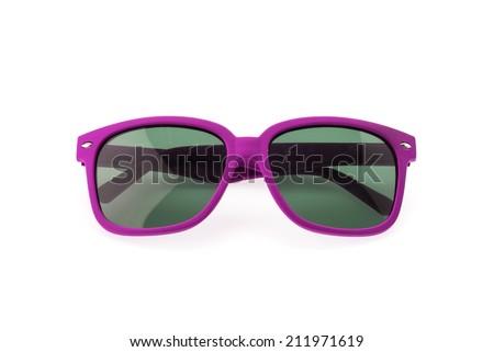 Sunglasses isolated on white - stock photo