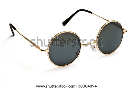 Sunglasses isolated on white background - stock photo