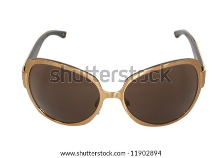 sunglasses isolated on white. woman accessory