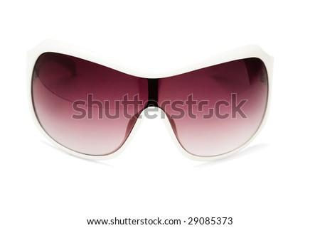 Sunglasses isolated over white - stock photo