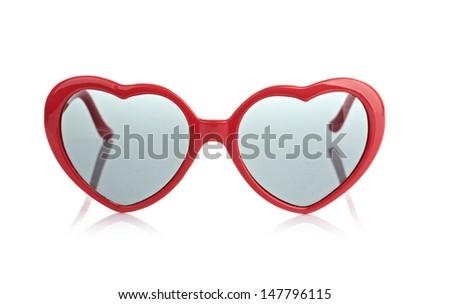 sunglasses like a heart - stock photo