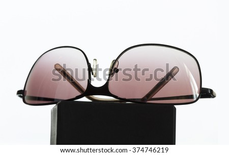 Sunglasses on display - stock photo