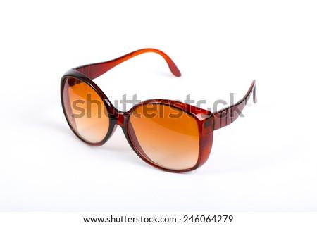 Sunglasses on white background. - stock photo