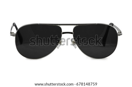 sunglasses on white background / glasses