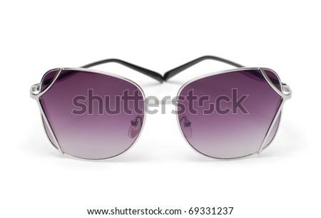 Sunglasses over a white background - stock photo