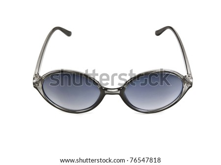 sunglasses over white background