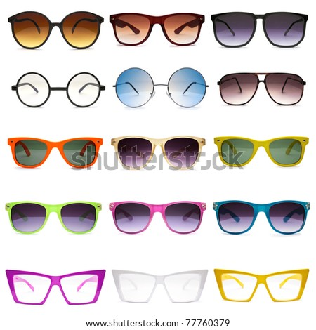 Sunglasses. Photo set - stock photo