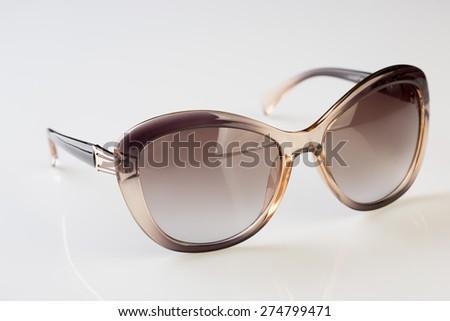 Sunglasses  white background - stock photo