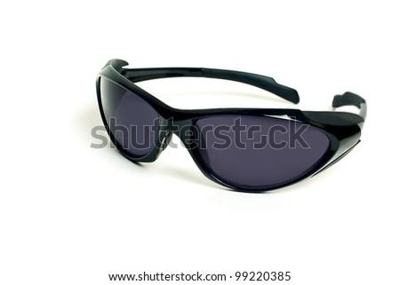 Sunglassesman's sports sunglasses isolated on the white - stock photo