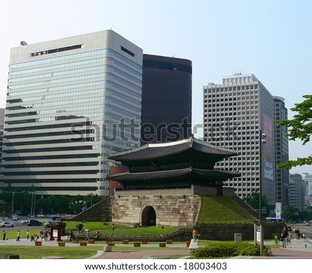 Sungnyemun Gate in Seoul, South Korea