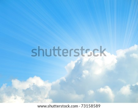 sunlight background with cloud - stock photo