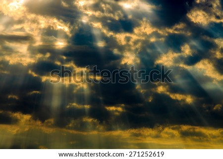 Sunlight from the sky - stock photo