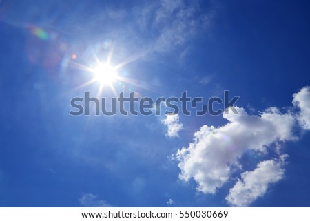 Sunlight or Crepuscular rays, rays of sunlight that appear to radiate from a single point in the sky (such as a gap in clouds)