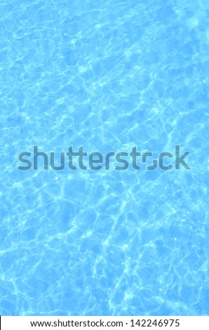 Sunlight Reflection in Blue Water. - stock photo
