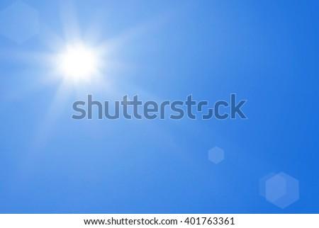 Sunlight sky blue - stock photo