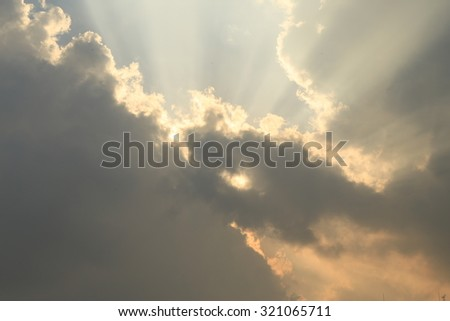Sunlight Through the Cloud - stock photo