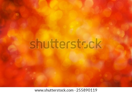 Sunny abstract autumn nature background, selective focus
