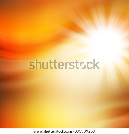 Sunny Abstract Orange Background