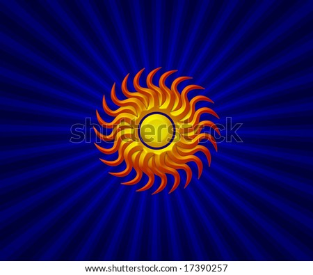 Sunny background - stock photo
