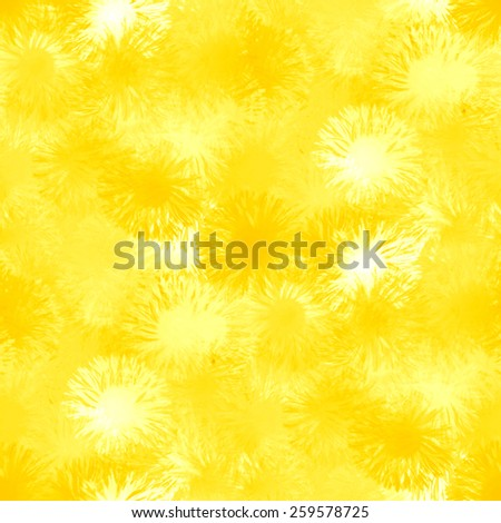 sunny background, beautiful yellow flowers, seamless pattern - stock photo