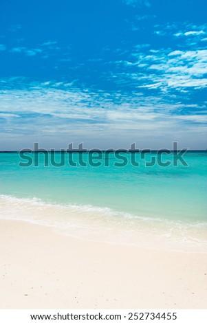 Sunny Beach Heavenly Blue  - stock photo