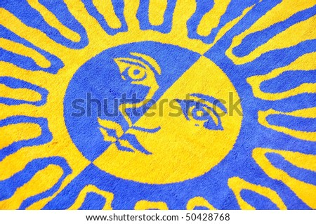 Sunny Beach Towel Background Pattern - stock photo
