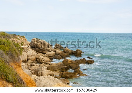 Sunny coastline - stock photo