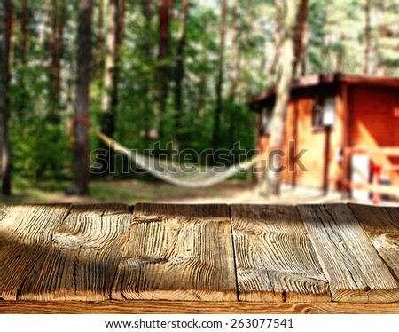 sunny day and camping  - stock photo