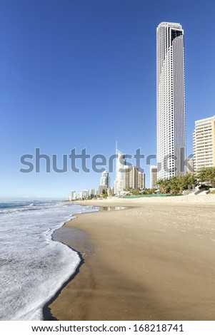 Sunny day at the beach, Gold Coast, Australia