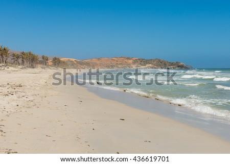 "Sunny day at the beach, in ""Playa El Agua"", in Margarita Island, in the Caribbean Sea - stock photo"