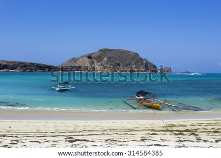 Sunny day on Beach in Komodo National Park