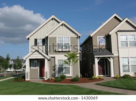 Sunny Homes - stock photo