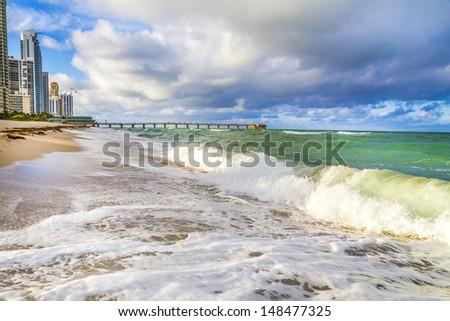 Sunny Isles Beach in Miami, Florida - stock photo