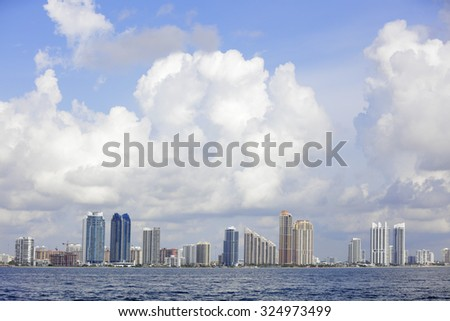 Sunny Isles Beach stock image - stock photo