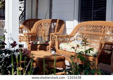 Sunny Patio - stock photo