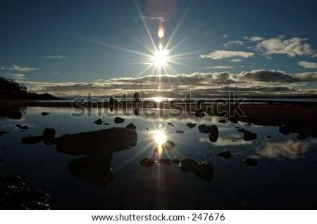 sunny reflections - stock photo