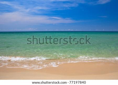 Sunny seascape - stock photo
