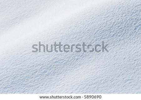 Sunny Shiny Fresh Snow Background - stock photo