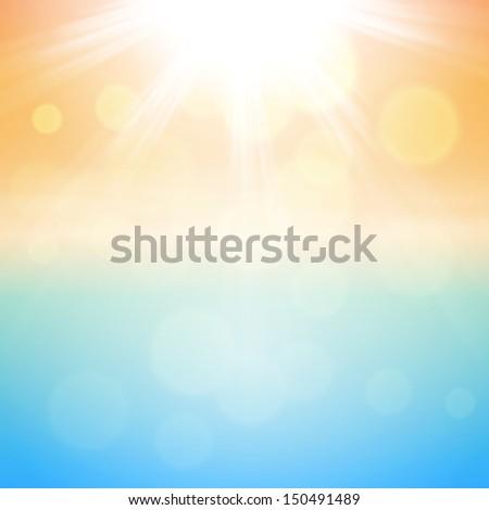 Sunny summer background. Raster version. - stock photo