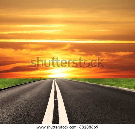 Sunny travel - stock photo