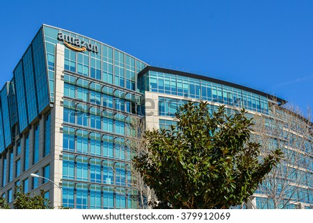 Sunnyvale, CA, USA - Feb. 21, 2016: Amazon Lab 126. Amazon Lab126 is an inventive research and development company that designs and engineers high-profile consumer electronic devices. - stock photo