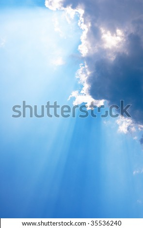 Sunrays - stock photo