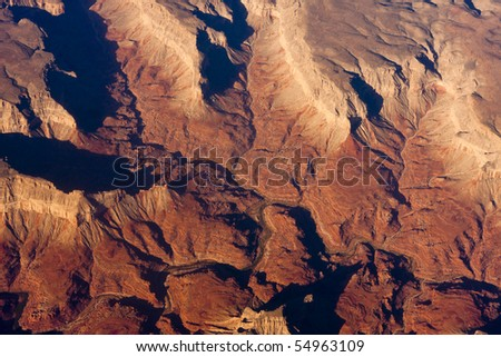 Sunrise aerial photo of the Grand Canyon