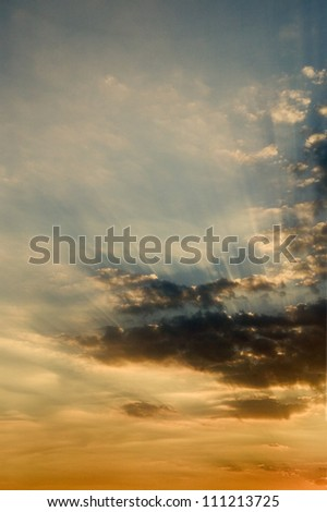 Sunrise and clouds, Outer Banks, North Carolina, USA