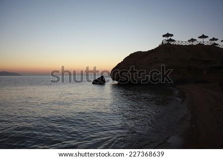 Sunrise and the sea - stock photo