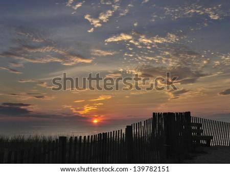 Sunrise at Bethany - stock photo